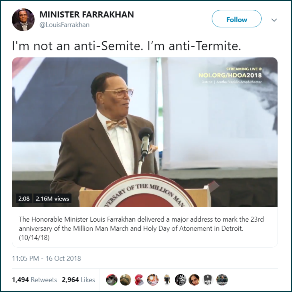 Farrakhan says he is an Anti-Termite - Howard Feldman