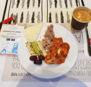 The wonderful food served at the Jewish Media Summit