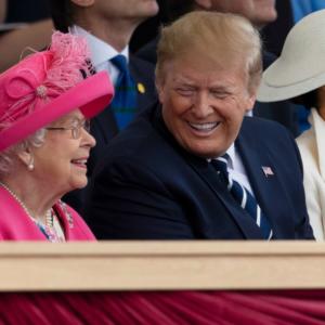 Trumps visit the palace
